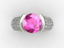 Celebrity Gifts - Pink Diamond Rings from DiamondGeezer.com