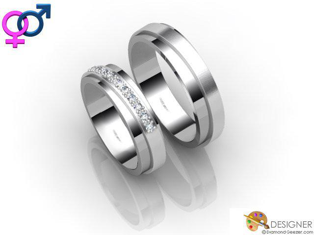 Wedding Rings His and Hers Platinum DiamondGeezercom